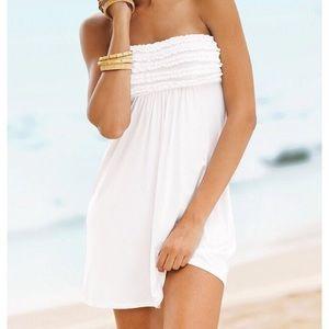  White Victoria's Secret swim suit cover-up